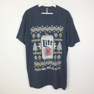 Miller Lite Holiday Graphic Tee